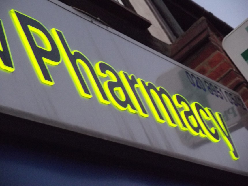 Illuminated Store Sign