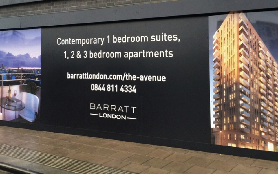 Barratts Exterior Hoarding Panel