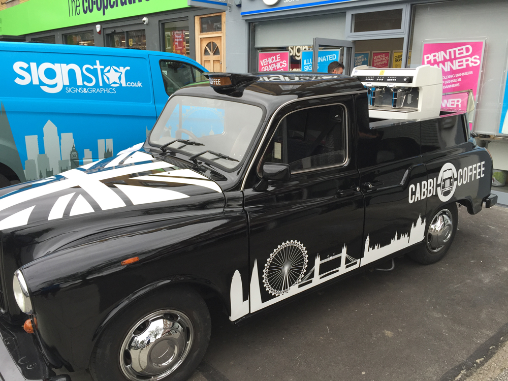 Cabbi coffee Vehicle Branding
