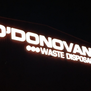 O Donovan Waste Disposal Illuminated Sign