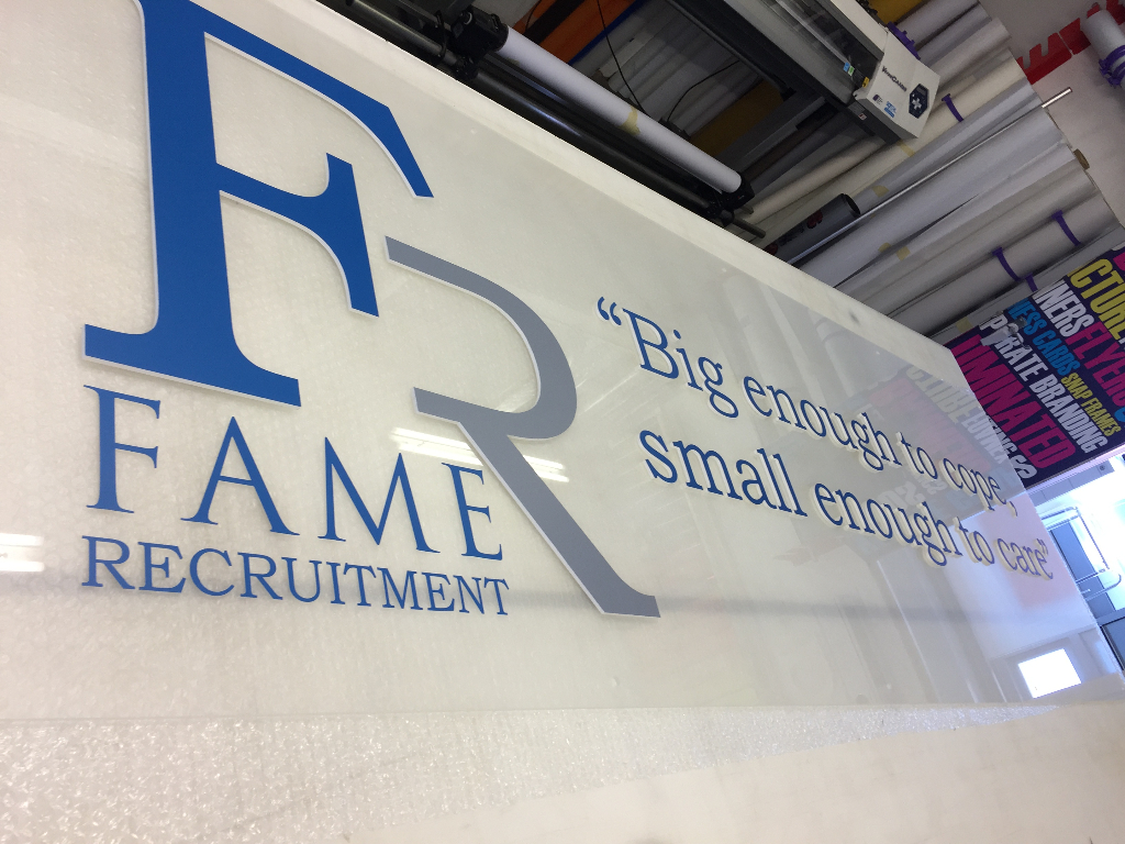 Fame Recruitment Acrylic Signs
