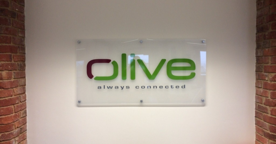 Olive Internal Perspex Sign